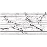 Obkladové 3D PVC panely rozměr 957 x 480 mm, tloušťka 0,4mm, větve a pruhy šedo-bílé s glittrem