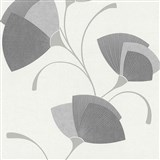 Vliesové tapety na zeď Spotlight - listy šedé