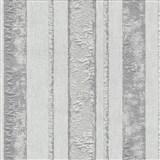 Vliesové tapety na zeď Studio Line - Opulent pruhy bílo-stříbrné se třpytem