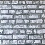 Papírové tapety na zeď Sweet & Cool cihlová stěna šedá