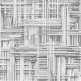 Vliesové tapety na zeď Times - 3D modern bílo-šedé