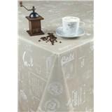 Ubrusy návin 20 m x 140 cm kavárna-čajovna hnědá