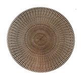 Vinylové dekorativní prostírání na stůl Deco růžově zlaté 41 cm