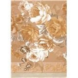 Ubrusy návin 20 m x 140 cm růže hnědé