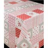 Ubrusy návin 20 m x 140 cm patchwork růžový