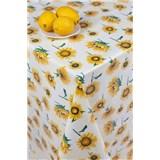 Ubrusy návin 20 m x 140 cm slunečnice na žlutém podkladu