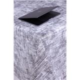 Ubrusy návin 20 m x 140 cm textilní struktura šedý