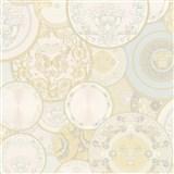 Luxusní vliesové  tapety na zeď Versace III koláž bílo-béžová