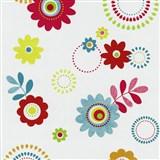 Papírové tapety na zeď X-treme Colors - květy červené