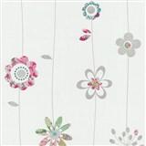 Papírové tapety na zeď X-treme Colors - kytičky růžové
