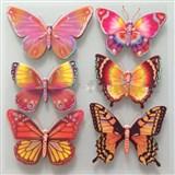 3D samolepky na zeď dětské motýli