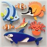 3D samolepky na zeď dětské rybičky