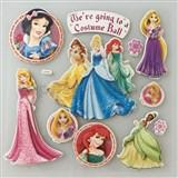 3D samolepky na zeď Disney princezny