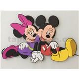 3D Pěnová dekorace na zeď Miki a Minnie