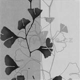 Vliesové tapety na zeď 4ever - listy Ginkgo černo-šedé - SLEVA