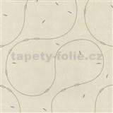 Vliesové tapety na zeď 4ever - moderní vzor hnědý na světle hnědém podkladu - SLEVA