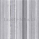 Vliesové tapety na zeď 4ever - pruhy světle šedé