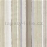 Vliesové tapety na zeď 4ever - pruhy hnědo-šedé - SLEVA
