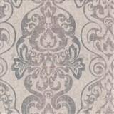 Tapety na zeď Antique - antický vzor fialovo-zelený - SLEVA