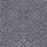 Vliesové tapety na zeď Bali zámecký vzor černý na stříbrném podkladu
