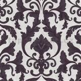 Tapety na zeď Baroque - zámecký vzor hnědo-fialový - SLEVA
