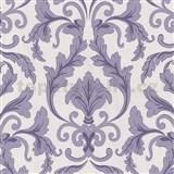 Tapety na zeď Baroque - zámecký vzor fialový - SLEVA