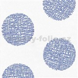 Vliesové tapety Belcanto - kruhy modré - SLEVA