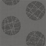 Vliesové tapety Belcanto - kruhy tmavě šedé - SLEVA