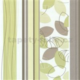 Vliesov� tapety Belcanto - list� sv�tle zelen�