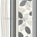 Vliesové tapety Belcanto - listí šedo-hnědé