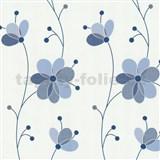 Vliesov� tapety Belcanto - kv�ty modr� - SLEVA