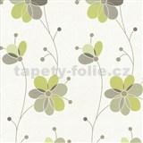 Vliesov� tapety Belcanto - kv�ty zelen� - SLEVA