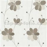 Vliesové tapety Belcanto - květy hnědé - SLEVA