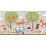 Papírové bordury na zeď Sweet & Cool zvířátka v přírodě