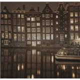 Luxusní vliesové fototapety Amsterdam - sépie, rozměr 279 cm x 270 cm
