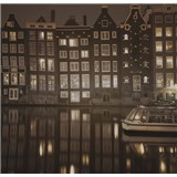 Luxusní vliesové fototapety Amsterdam - sépie, rozměr 279 x 270cm