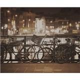 Luxusní vliesové fototapety Amsterdam - sépie, rozměr 325,5 cm x 270 cm