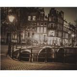 Luxusní vliesové fototapety Amsterdam - sépie, rozměr 325,5 x 270cm