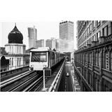 Luxusní vliesové fototapety Kuala Lumpur - černobílé, rozměr 418,5 cm x 270 cm