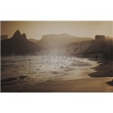 Luxusní vliesové fototapety Rio de Janeiro - sépie, rozměr 418,5 x 270cm