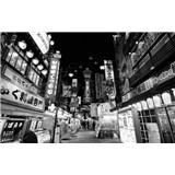 Luxusní vliesové fototapety Tokyo - černobílé, rozměr 418,5 x 270cm