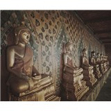 Luxusní vliesové fototapety Bangkok - sépie, rozměr 325,5 cm x 270 cm