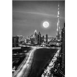 Luxusní vliesové fototapety Dubai - černobílé, rozměr 186 cm x 270 cm
