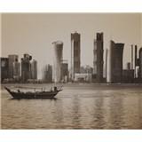 Luxusní vliesové fototapety Doha - sépie, rozměr 325,5 cm x 270 cm