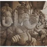 Luxusní vliesové fototapety Delhi - sépie, rozměr 279 cm x 270 cm