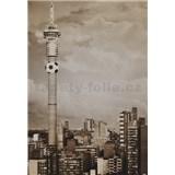Luxusní vliesové fototapety Johannesburg - sépie, rozměr 186 cm x 270 cm