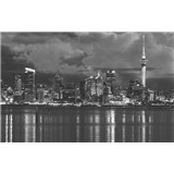 Luxusní vliesové fototapety Auckland - černobílé, rozměr 418,5 cm x 270 cm
