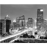 Luxusní vliesové fototapety Beijing - černobílé, rozměr 325,5 cm x 270 cm