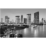 Luxusní vliesové fototapety Bangkok - černobílé, rozměr 418,5 cm x 270 cm