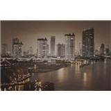 Luxusní vliesové fototapety Bangkok - sépie, rozměr 418,5 cm x 270 cm